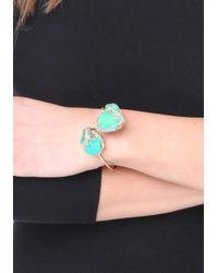 Bebe | Green Jasper Open Bracelet | Lyst