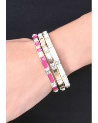 Bebe - Pink Color Enamel Bracelet Set - Lyst