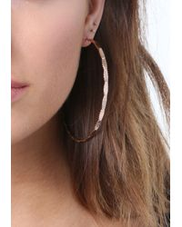 Bebe - Multicolor Crimped Hoop Earrings - Lyst