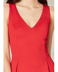 Bebe - Red Laser Cut Fit & Flare Dress - Lyst