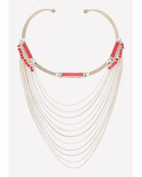 Bebe | Multicolor Draped Chain Necklace | Lyst