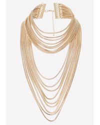 Bebe | Metallic Snake Chain Strand Necklace | Lyst