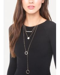 Bebe - Metallic Pave Charms Necklace Set - Lyst