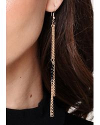 Bebe - Black Stone Earring Set - Lyst