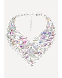 Bebe | Multicolor Ab Crystal Necklace | Lyst