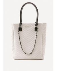 Bebe | Gray Samara Quilted Tote | Lyst
