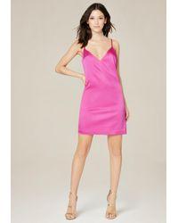 Bebe | Pink Jen Silk Slip Mini Dress | Lyst