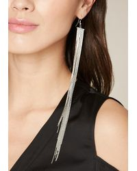 Bebe - Metallic Dramatic Duster Earrings - Lyst