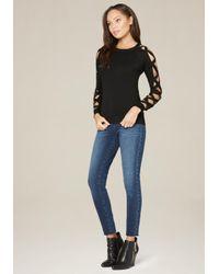 Bebe - Black Ivana Sweater - Lyst