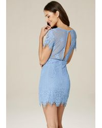 Bebe Blue Tory Lace Dress
