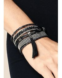 Bebe - Metallic Friendship Bracelet Set - Lyst