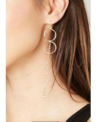 Bebe - Metallic Double Circle Drop Earrings - Lyst