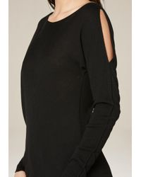 Bebe Black Long Sleeve Sweater Top