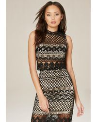 Bebe   Black Crochet Lace Crop Top   Lyst