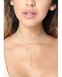Bebe - Metallic Delicate Chain Choker Set - Lyst