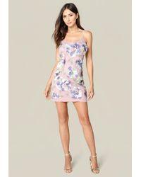 Bebe Multicolor Leila Sequin Slip Dress