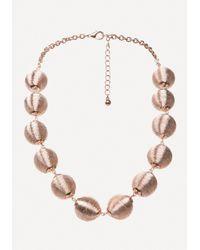 Bebe - Metallic Thread Necklace - Lyst
