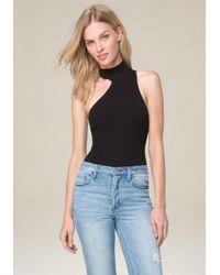 Bebe - Black One Shoulder Bodysuit - Lyst