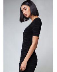 Bebe Black Whitney Midi Dress