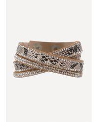 Bebe - Multicolor Faux Python Wrap Bracelet - Lyst