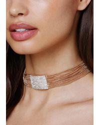 Bebe | Multicolor Chain & Crystal Choker | Lyst