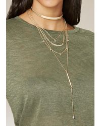 Bebe - Multicolor Delicate Layered Necklace - Lyst