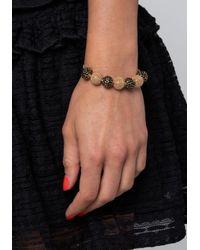 Bebe - Black Crystal & Bead Bracelet - Lyst
