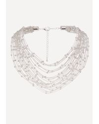 Bebe - Metallic Chain & Bead Necklace - Lyst