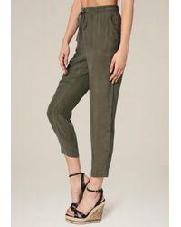 Bebe - Green Cupro Jogger Pants - Lyst