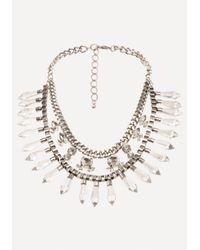 Bebe - Multicolor Layered Statement Necklace - Lyst