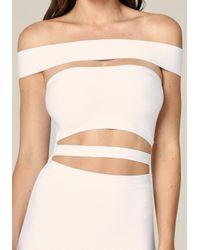 Bebe White Off Shoulder Cutout Dress