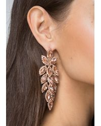 Bebe - Multicolor Ornate Crystal Earrings - Lyst