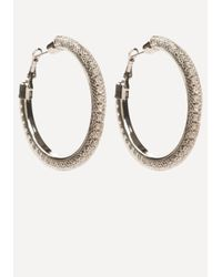 Bebe | Metallic Floating Hoop Earrings | Lyst