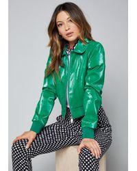Bebe - Green Paige Bomber Jacket - Lyst