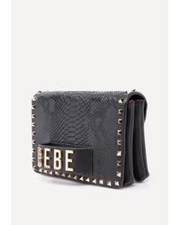 Bebe - Black Leather Convertible Bag - Lyst