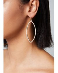 Bebe - Metallic Marquise Drop Earrings - Lyst