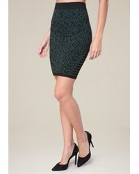 Bebe - Black Bodycon Skirt - Lyst