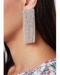 Bebe - Metallic Crystal Wide Earrings - Lyst