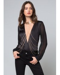 Bebe - Multicolor Collar Body Chain - Lyst