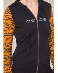 Bebe - Multicolor Logo Print Zip Hoodie - Lyst