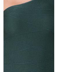 Bebe - Green One Shoulder Bodycon Top - Lyst