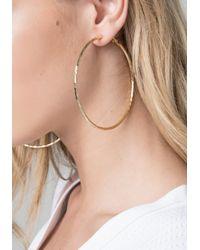 Bebe - Multicolor Textured Hoop Earrings - Lyst