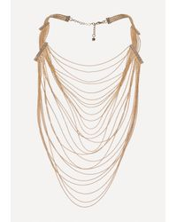 Bebe - Multicolor Draped Shot Bead Necklace - Lyst