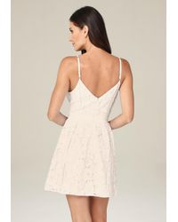 Bebe - White Lace Fit & Flare Dress - Lyst