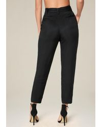 Bebe - Black Cargo Pocket Pants - Lyst