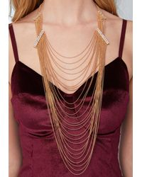 Bebe - Multicolor Draped Shot Bead Necklace - Lyst