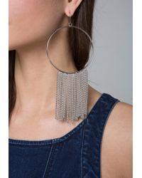 Bebe - Metallic Mesh Chain Hoop Earrings - Lyst