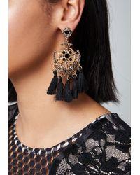 Bebe - Multicolor Tassel Chandelier Earrings - Lyst
