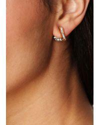 Bebe - Metallic Fireball Earrings - Lyst