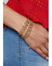 Bebe - Metallic Multi-chain Bracelet - Lyst
